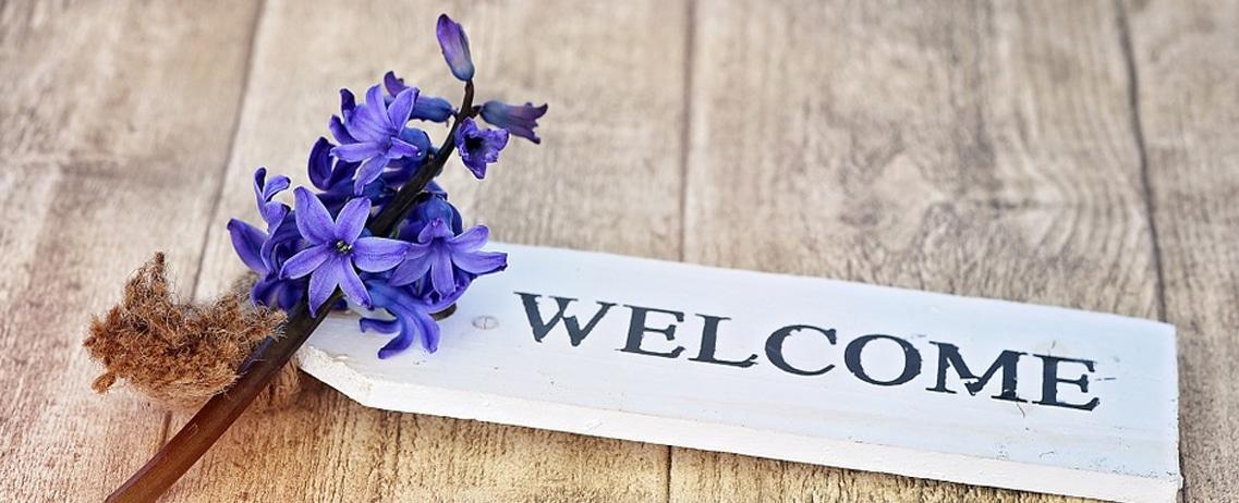 Gästematratzen Willkommens Schild