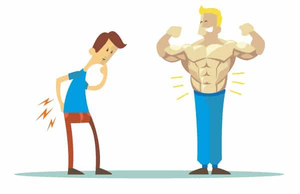 Keine Muskeln für die richtige Haltung