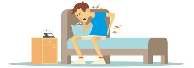 Rückenschmerzen nach dem Aufstehen