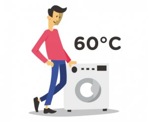 Waschtemperaturen über 60°C sind hygenisch